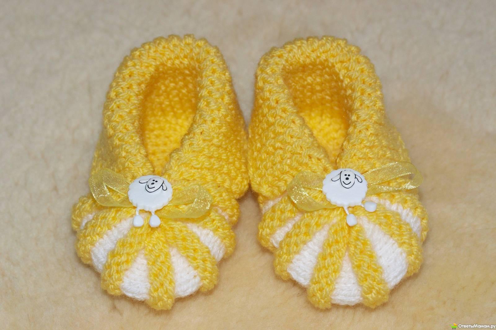 Вязанные шапочки своими руками для новорожденных