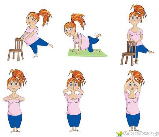 Упражнения для беременных 2 семестр 51