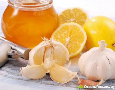 чеснок, лимон и мед против одышки