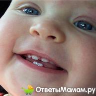появление молочных зубов