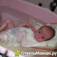 температура воды для купания новорожденных