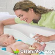 купание новорожденного ребенка